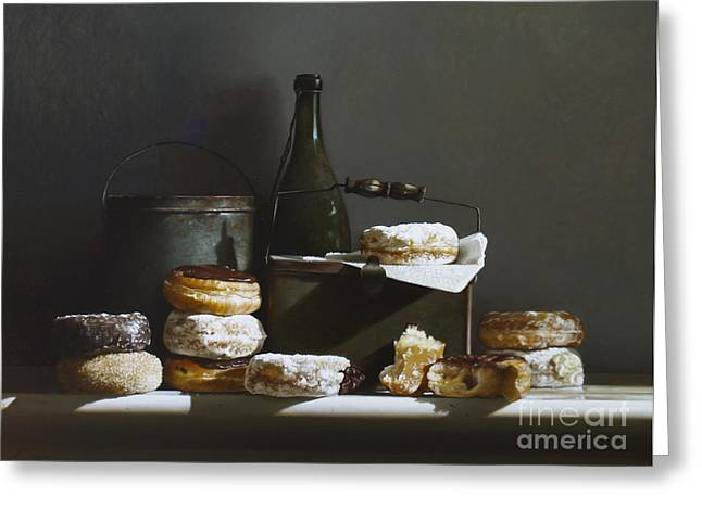 Tins And Donuts Greeting Card by Larry Preston