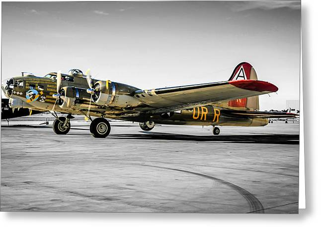 Tinted B17 Greeting Card by Chris Smith
