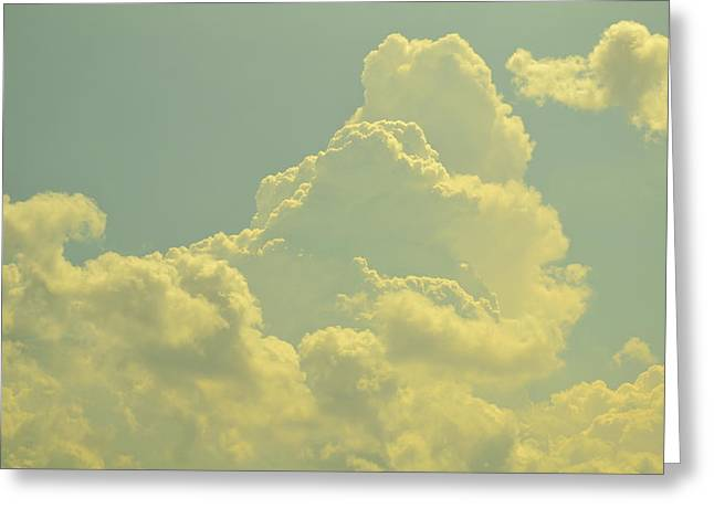 Tinted Cloud Greeting Card by Kiros Berhane