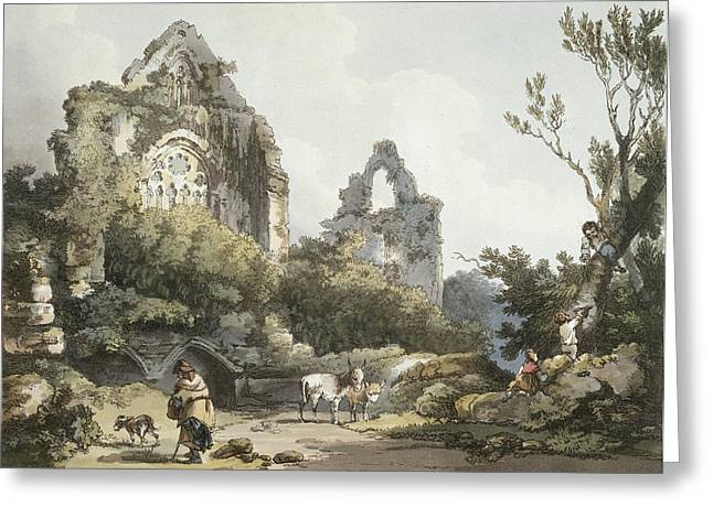 Tintern Abbey, From The Romantic Greeting Card