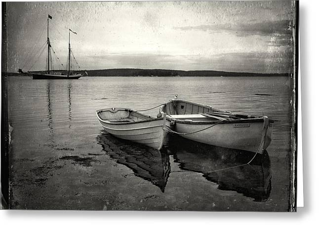 Tintype Boats 3 Greeting Card by Fred LeBlanc