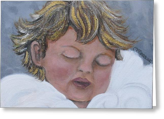 Tiny Angel Greeting Card by Melissa Torres