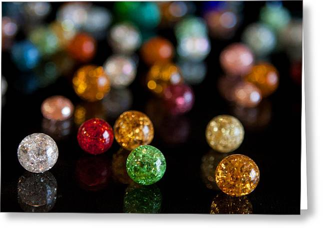 Tiny Crystal Balls Greeting Card