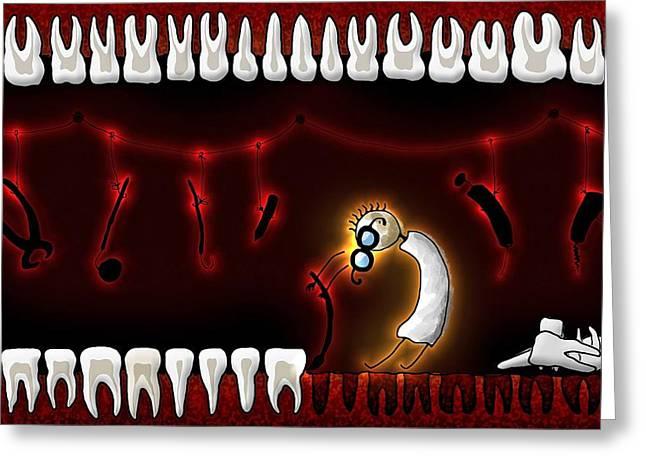Tiny Dentist Greeting Card