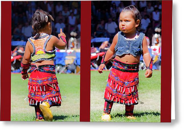 Tiny Jingle Dancer Greeting Card by Theresa Tahara