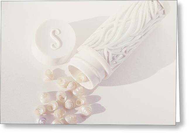 Tiny White Seashells Greeting Card