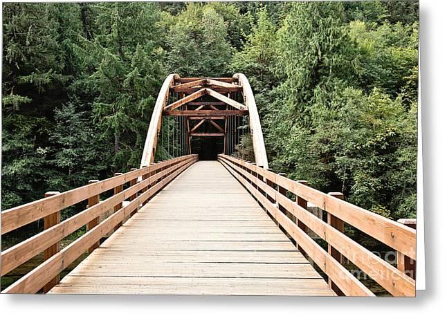 Tioga Bridge Greeting Card by Scott Pellegrin