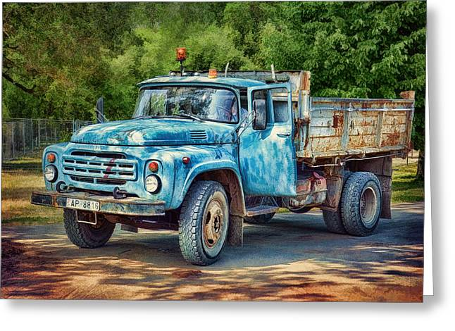 Tipper Truck Greeting Card by Gynt