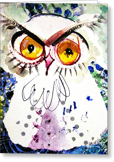 Tipsy Owl Greeting Card