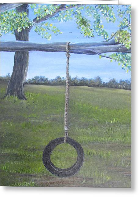 Tire Swing Greeting Card