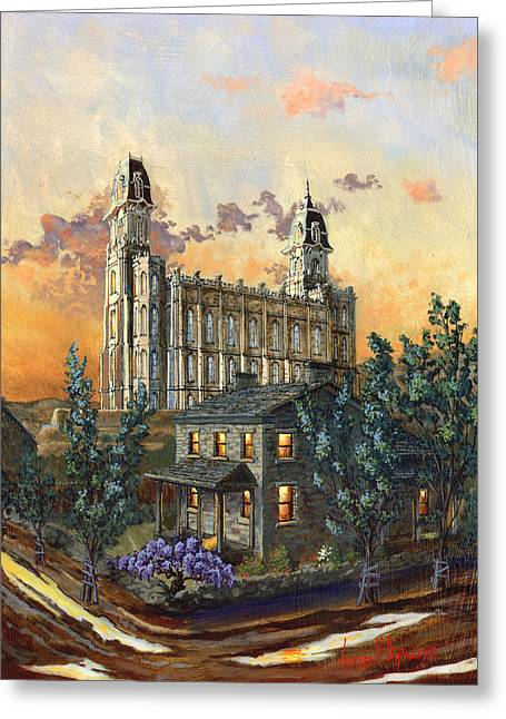 Tis Eventide Greeting Card by Jeff Brimley