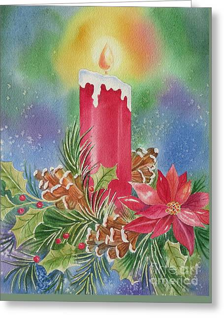 Tis The Season Greeting Card by Deborah Ronglien