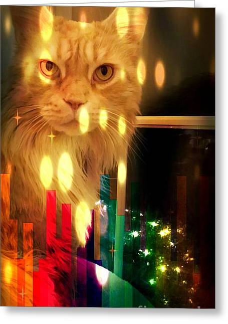 Tis The Season Greeting Card by Judy Via-Wolff