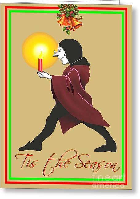 Tis The Season Xmas Card Greeting Card by Michael Swanson