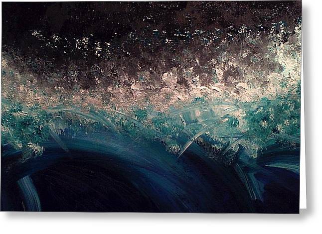Tital Wave Greeting Card by Lisa Williams