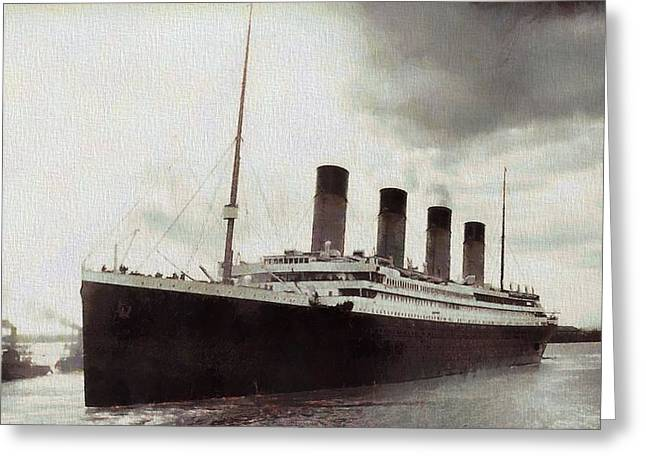 Titanic 1912 Vintage Greeting Card by Dan Sproul