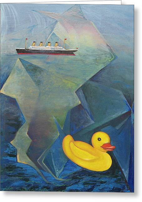Titanic And The Ducky Greeting Card
