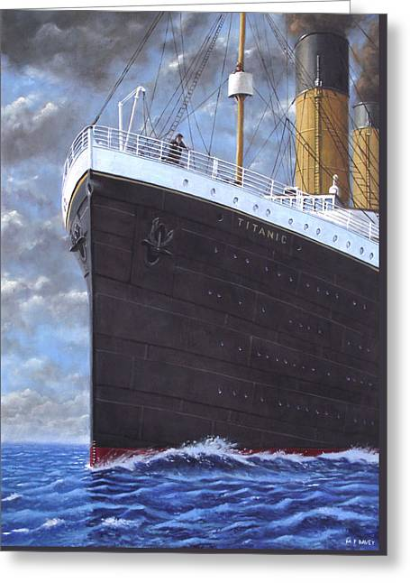 Titanic At Sea Full Speed Ahead Greeting Card