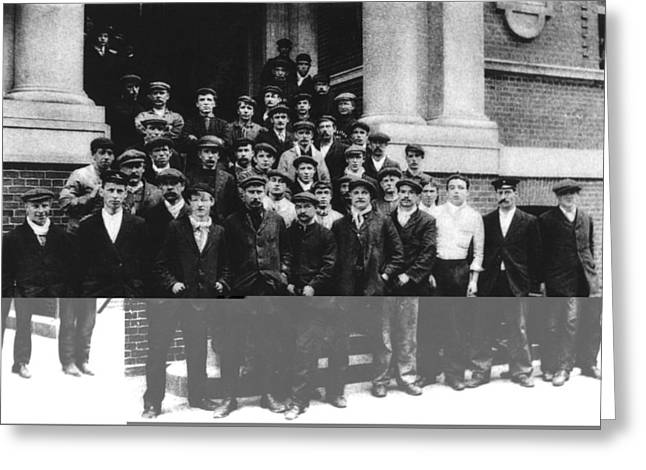 Titanic Crew Survivors Greeting Card by Science Photo Library