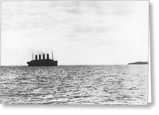 Titanic Departing Europe Greeting Card