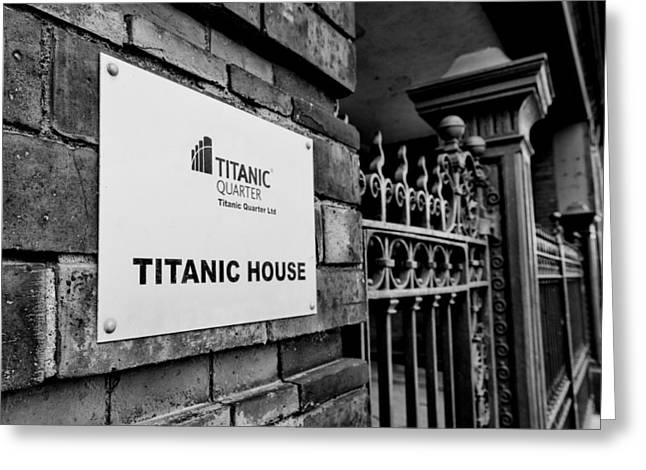 Titanic House Greeting Card