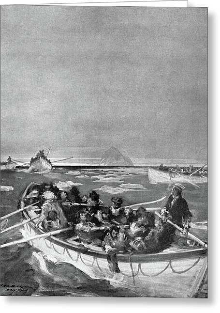 Titanic Lifeboat, 1912 Greeting Card