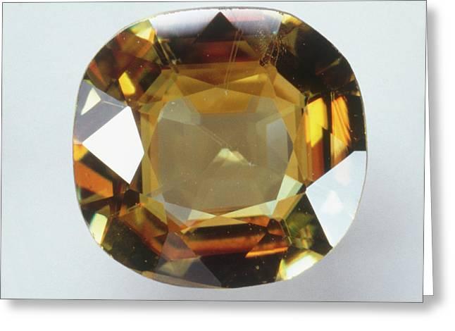 Titanite Gemstone Greeting Card by Dorling Kindersley/uig