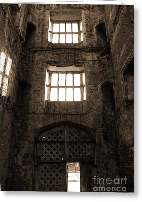 Titchfield Abbey Gatehouse In Sepia Greeting Card by Terri Waters