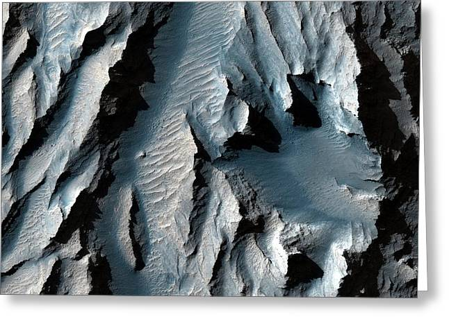 Tithonium Chasma Greeting Card by Nasa/jpl-caltech/univ. Of Arizona