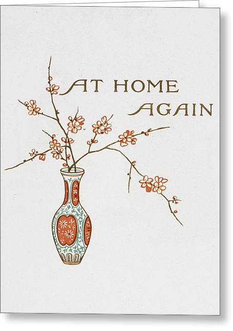 Title And A Vase Greeting Card by British Library