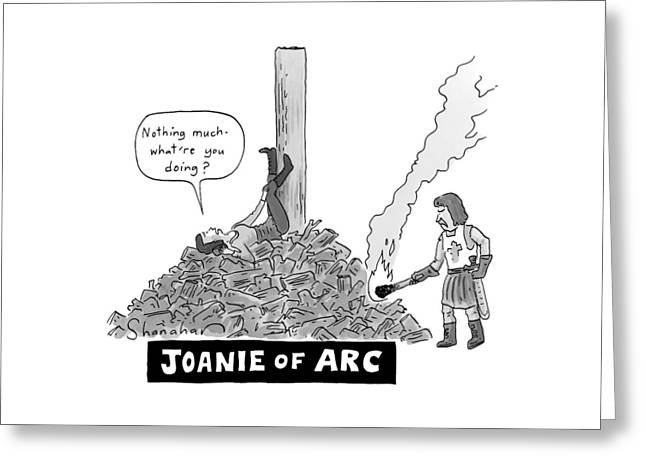 Title: Joanie Of Arc. A Teenage Joan Of Arc Rests Greeting Card