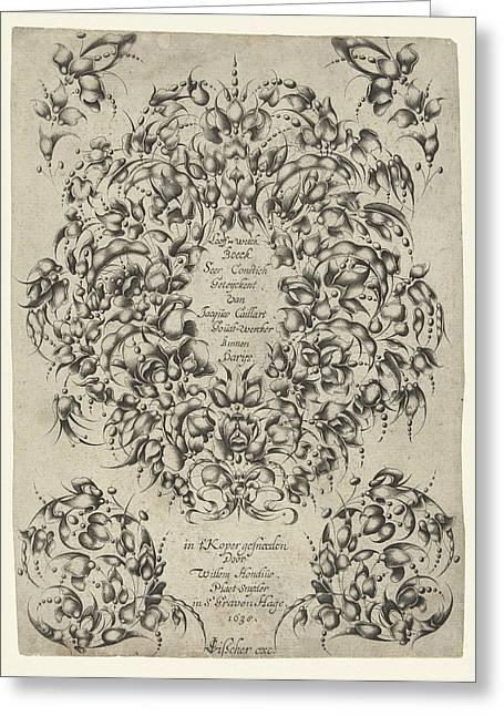 Title Journal Looff-werck Boeck Seer Constich Geteijckent Greeting Card