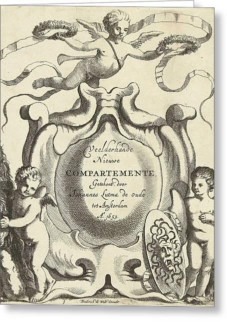 Title Journal Veelderhande Nieuwe Compartemente Greeting Card by Jacob Lutma And Johannes Lutma I And Frederik De Wit