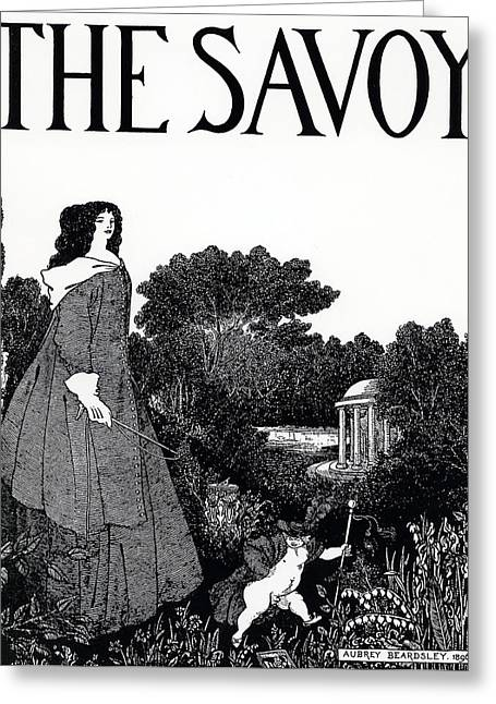 Title Page From The Savoy Greeting Card