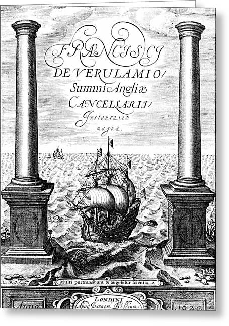 Title Page Of Instauratio Magna Greeting Card by Universal History Archive/uig