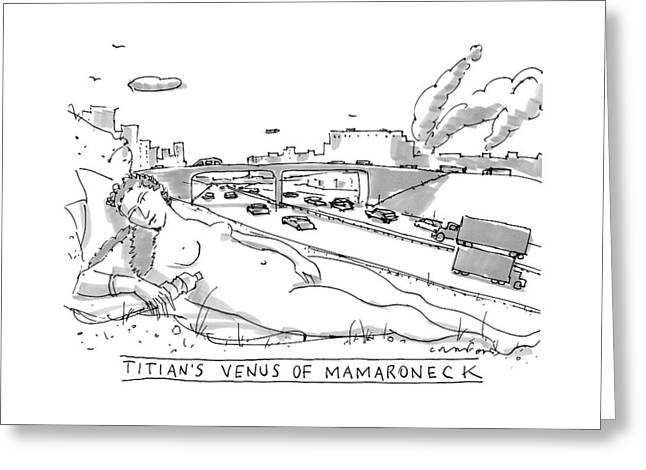 Title: Titian's Venus Of Mamaroneck A Giant Greeting Card
