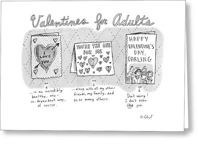 Title Valentines For Adults. Three Valentine's Greeting Card