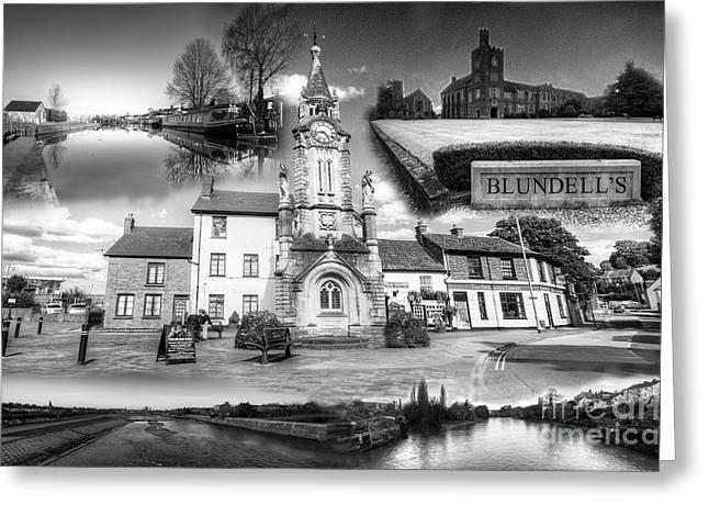 Tiverton Landmarks  Greeting Card by Rob Hawkins