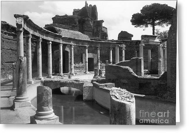 Tivoli Hadrian's Villa Greeting Card by Granger