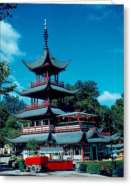 Tivoli Pagoda 1953 Greeting Card by Cumberland Warden
