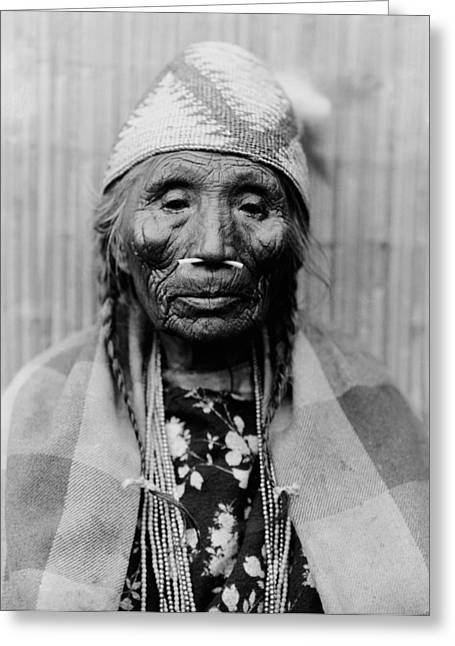 Tlakluit Indian Woman Circa 1910 Greeting Card