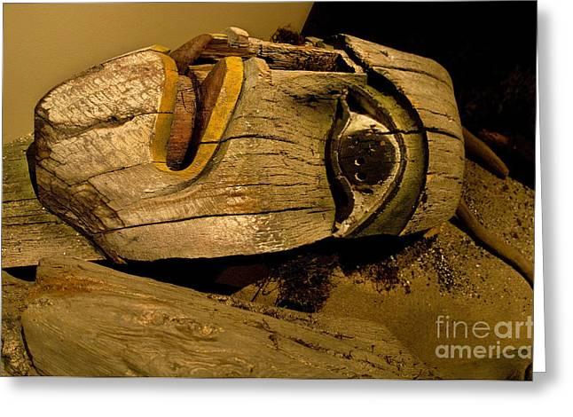 Tlingit Totem Figure Greeting Card by Ron Sanford