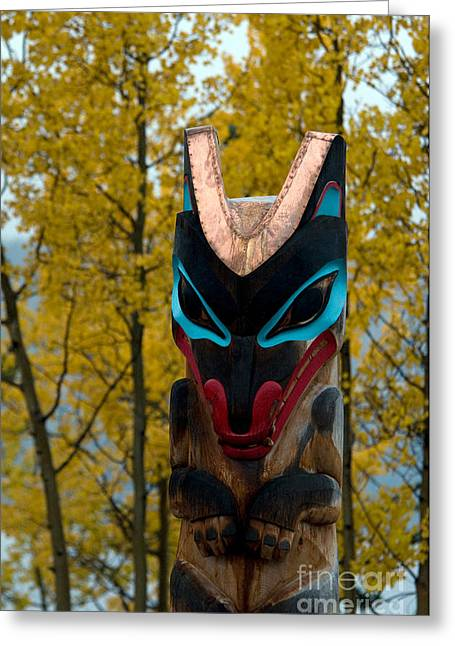 Tlingit Totem Greeting Card by Mark Newman