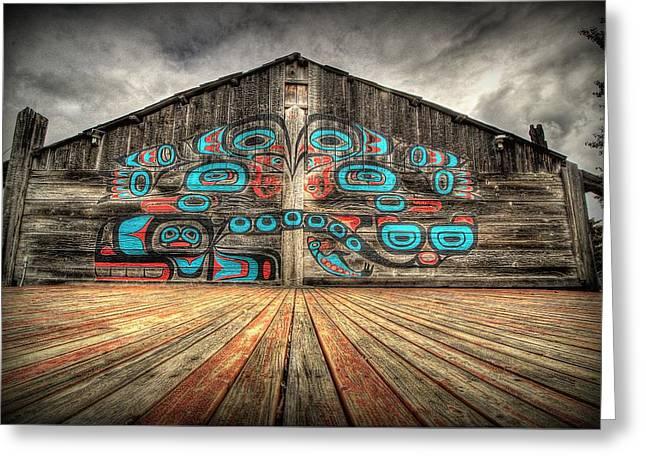 Tlingit Tribal House Haines Alaska Greeting Card