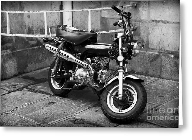 Tlv 50cc Motorbike Greeting Card by John Rizzuto