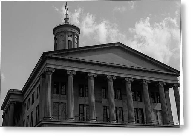 Tn State Capitol Greeting Card by Robert Hebert