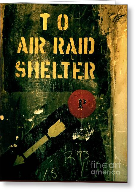 To Air Raid Shelter Greeting Card by James Aiken