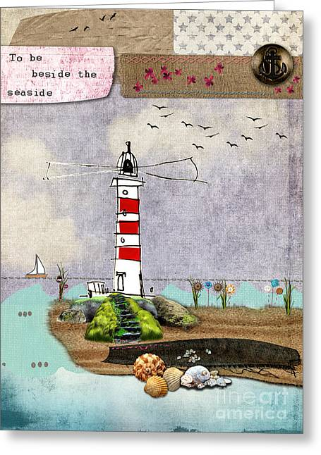 To Be Beside The Seaside Greeting Card by Gillian Singleton