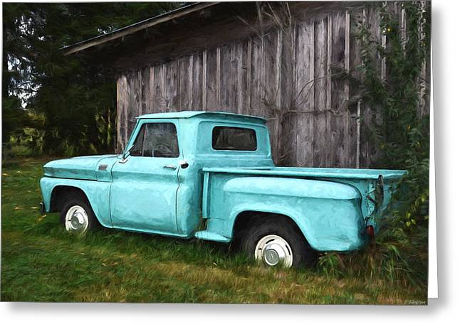 To Be Country - Vintage Vehicle Art Greeting Card by Jordan Blackstone