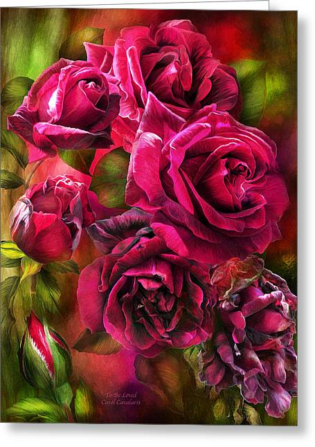 To Be Loved - Red Rose Greeting Card by Carol Cavalaris